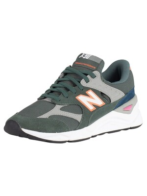 New Balance X-90 Suede Trainers - Faded Rosin/Sunrise