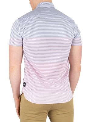 Scotch & Soda Striped Shortsleeved T-Shirt - Blue/Pink