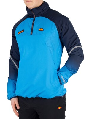 Ellesse Istomes 1/4 Zip Poly Pullover Jacket - Blue
