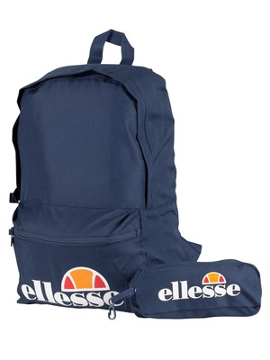 Ellesse Rolby Backpack & Pencil Case - Navy