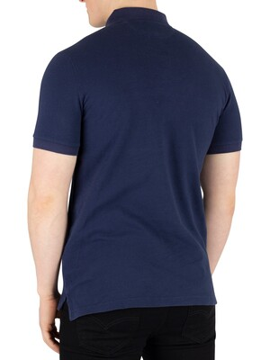 Hackett London Archive Graphic Poloshirt - Navy