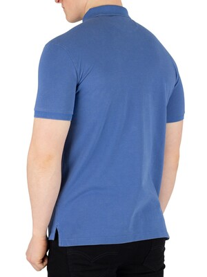 Hackett London Archive Logo Poloshirt - Middle Blue