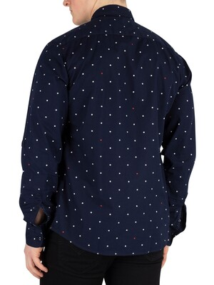 Scotch & Soda Pattern Shirt - Navy