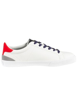 Superdry Vintage Court Leather Trainers - Optic White/Dark Navy/State