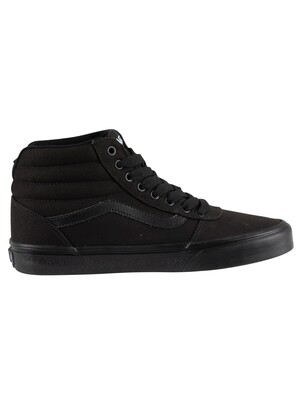 Vans Ward Hi Trainers - Black/Black