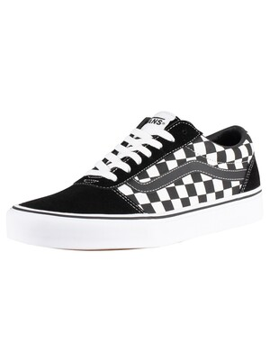 Vans Ward Checkered Trainers - Black/True White