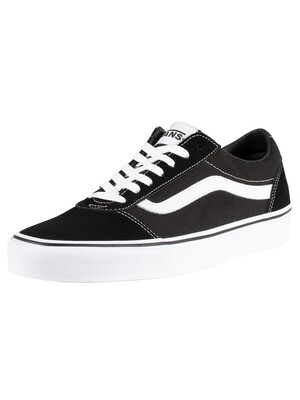 Vans Ward Suede Canvas Trainers - Black/White
