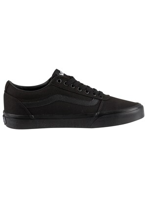 Vans Ward Canvas Trainers - Black/Black