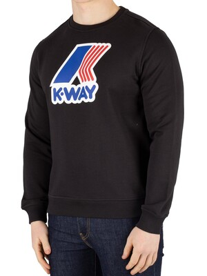 K-Way Augustine Macro Slim Sweatshirt - Black