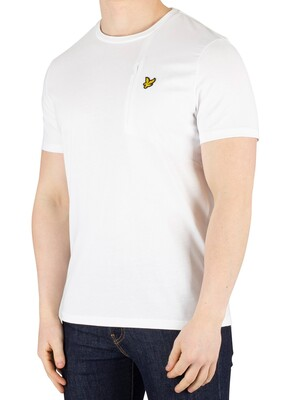 Lyle & Scott Fabric Mix T-Shirt - White
