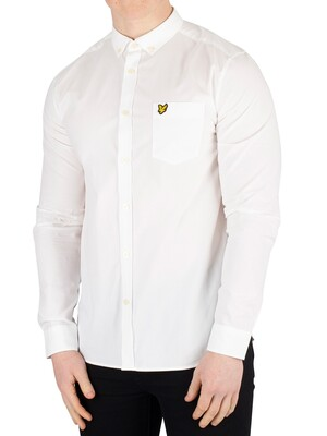 Lyle & Scott Side Stripe Shirt - White