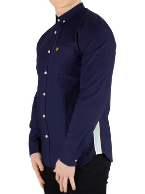 Lyle & Scott Side Stripe Shirt - Navy