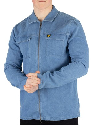 Lyle & Scott Summer Overshirt - Light Blue