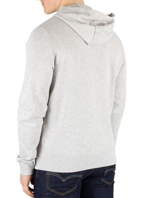 Lyle & Scott Zip Hoodie - Light Grey Marl