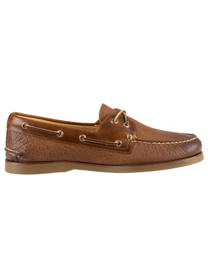 Sperry Top-Sider 2-Eye Titan Leather Boat Shoes - Tan