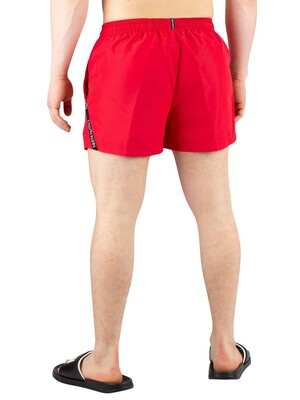 Calvin Klein Short Drawstring Swim Shorts - Lipstick Red