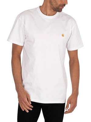 Carhartt WIP Chase T-Shirt - White/Gold