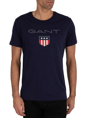 GANT Shield Logo T-Shirt - Evening Blue