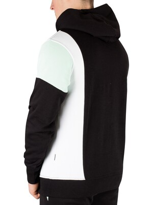 Nicce London Alta Pullover Hoodie - Black/Mint