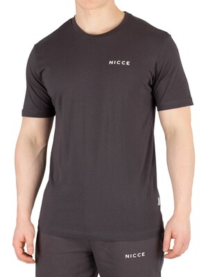 Nicce London Chest Logo T-Shirt - Coal
