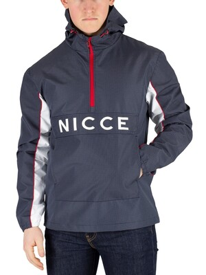Nicce London Henley Jacket - Navy Reflective Check