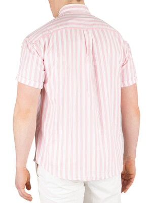 Scotch & Soda Shortsleeved Stripe Shirt - Pink/White