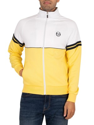Sergio Tacchini Orion Track Top - Light Yellow/White