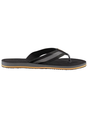 Superdry Cove 2.0 Flip Flops - Black/Charcoal