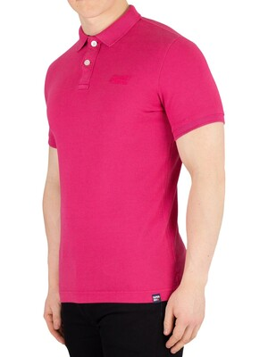 Superdry Vintage Destroyed Poloshirt - Florida Pink Marl