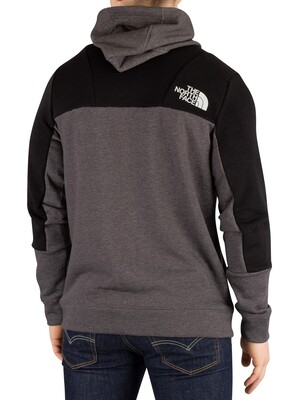 The North Face Mountain Lite Full Zip Hoodie - Medium Grey Heather