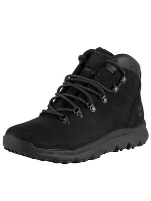 Timberland World Hiker Leather Boots - Blackout Nubuck