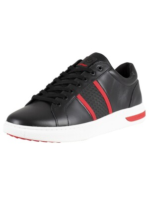 Ed Hardy Blade Low Top Trainers - Black/Red