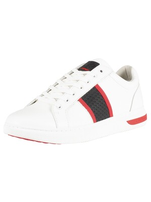 Ed Hardy Blade Low Top Trainers - White/Black/Red