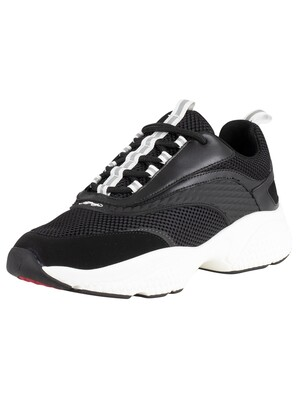 Ed Hardy Scale Chunky Runner Trainers - Black/White