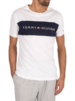 Tommy Hilfiger Flag Logo T-Shirt - White