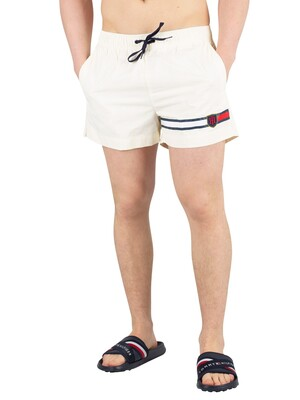 Tommy Hilfiger Medium Drawstring Swimshorts - Vanilla Ice