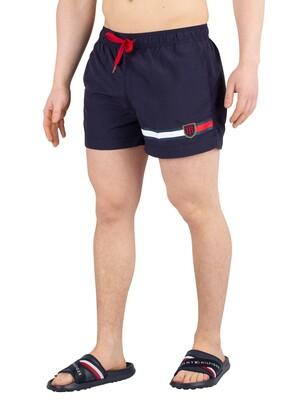 Tommy Hilfiger Medium Drawstring Swimshorts - Navy Blazer