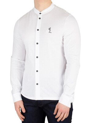 Religion Ormont Grandad Collar Shirt - White