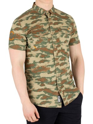 Superdry Rookie Parachute Lite Shortsleeved Shirt - Dispersal Green Camo