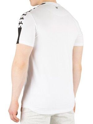 11 Degrees Cut Off Panel T-Shirt - White