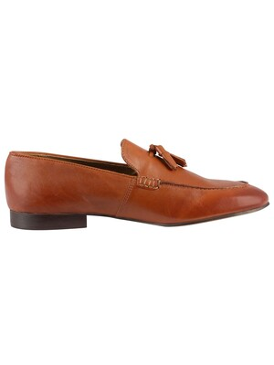 H by Hudson Bolton Leather Shoes - Tan
