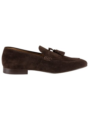 H by Hudson Bolton Suede Shoes - Brown