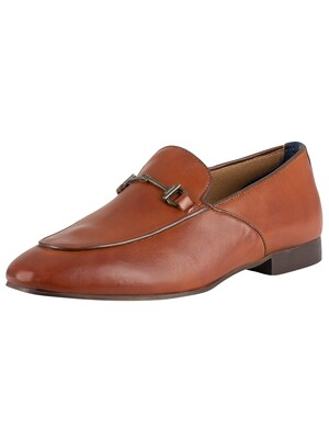 H by Hudson Carmarthen Calf Leather Shoes - Tan