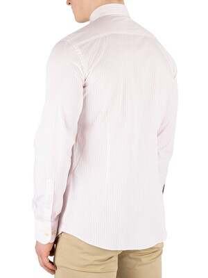 Hackett London Bengal Stripe Slim Fit Shirt - Pink/White