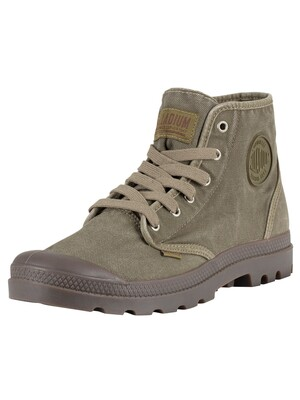 Palladium Pampa High Boots - Dark Olive