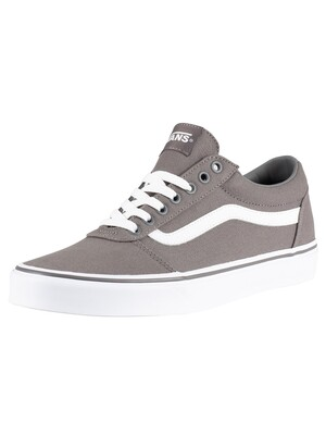 Vans Ward Canvas Trainers - Pewter/White