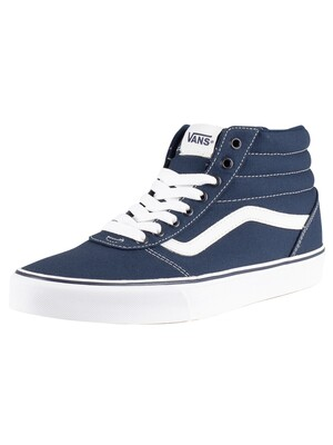 Vans Ward Hi Canvas Trainers - Dress Blue/White