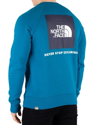 The North Face Raglan Redbox Sweatshirt - Crystal Teal