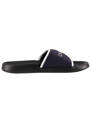 Calvin Klein Logo Sliders - Blue Shadow