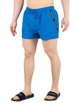 Calvin Klein Short Drawstring Swim Shorts - Imperial Blue